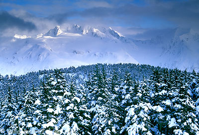 Chugach National Forest, Alaska during winter.