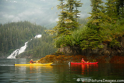 Kayakers in Prince William Sound