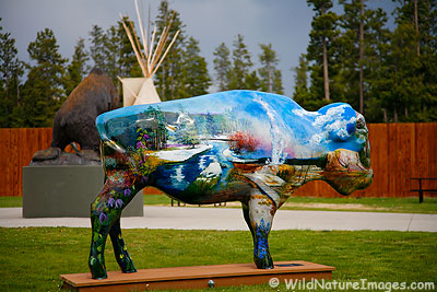 Painted Buffalo, West Yellowstone, Monatana