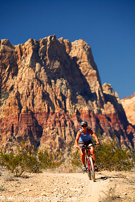 Mountain Biking, Red Rock Canyon, Las Vegas, Nevada